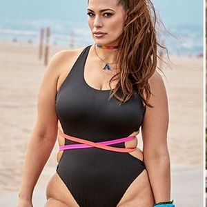 Swimsuits For All Ashley Graham one piece NWT